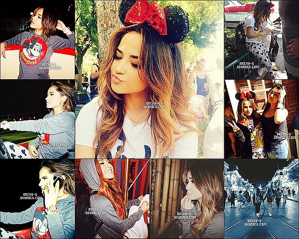 Série de photos personnelles de notre Becky postées récemment sur Twitter ou Instagram. Récemment Becky a profitée de passer du bon temps avec sa famille ou il y a des photos datant de sa journée à Disneyland.