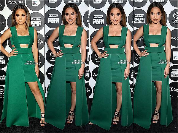 """12 / 05 / 15 :NotreBeckysi sublime a étéà la cérémonie des """"50 Most Beautiful' 2015 Gala"""". Becky a été vêtue d'un longue robe verte qui lui allait très très bien !! un TOP !! Cette cérémonie groupait tous les stars latinos."""