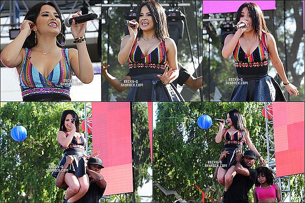 14 / 06 / 15 :Becky Ga donnée un show à laGay Pride FestivalàWest Hollywood (LA). Beckya performée durant le festival qui est destiné pour les gays. (Vidéo) D'autres célébrités ont aussi performés.