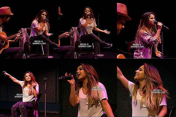 11 / 09 / 15 :Beckya été donnée une performance à la Radio Mix 96.1 pour le plaisir des fans. Becky a donnée un bon show acoustique pour les fans mais aussi pour leurs plaisir elle a fait un meet and great ou elle était souriante.