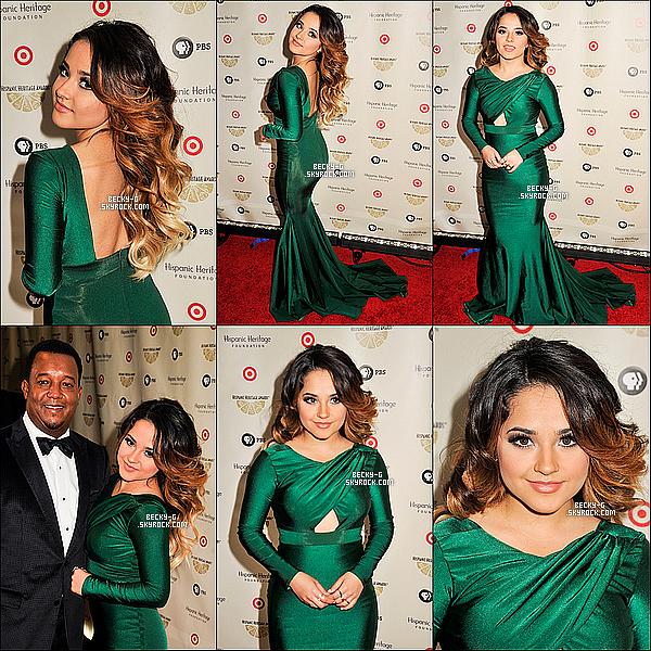 17 / 09 / 15 :Becky tout classe, a été au28th Annual Hispanic Heritage Awards à la capitale. Beckyaégalement reçu leprix Inspirapour être une source d'inspiration pour les jeunes Latino. De plus, sa tenu au TOP !!