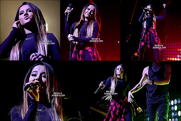 """23 / 09 / 15 :Beckya donnée un show en première partie de la tournée deJBalvin à Miami. Notre Beckyfait donc la 1ere partie de la tournée """"La Familia Tour"""" avec J Balvin. Videos : N1-N2-N3-N4-N5-N6-N7"""