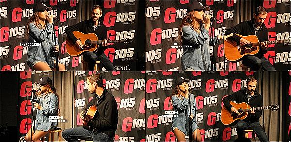 28 / 09 / 15 :Beckya été dans deux radios : 96,1 radio à Charlotte &G105 àRaleigh, NC. Beckyétait surchargée, elle s'est rendu dans 2 radios différentes le même jour & puis elle a donner un M&G + un show pour les fans.