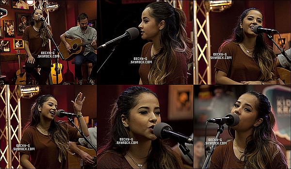"""12 / 10 / 15 :BeckyG a été dans les locaux de studio de """"The Kidd Kraddick Morning Show"""". Beckya donnée une interview & aussi donnée un show avec plusieurs chansons de son nouvel album dont elle nous a fait partager."""