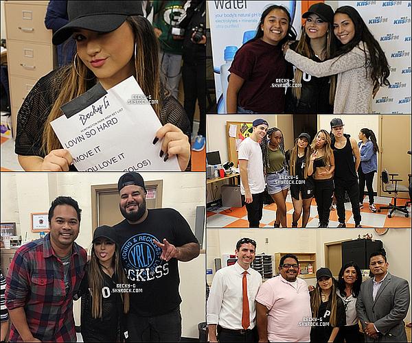 29 / 10 / 15 :Beckya été dans un lycée à Huntington Park (CA) organisé par102.7 Kiis FM. Beckya perfoméeLovin' So Hard,Move It,You Love It,Break A Sweat&Shower. Elle a pu rencontrer des fans en M&G apres le show.