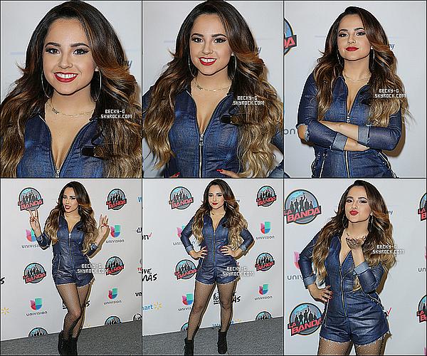 """22 / 11 / 15 :Beckya perfomée en étant l'invitée spécial dans l'émission musicale """"La Banda"""". Beckya perfomée sur scène dans une émission de chant mexicaine, elle a été bien accueilli & attendu par ses fans lors du show."""