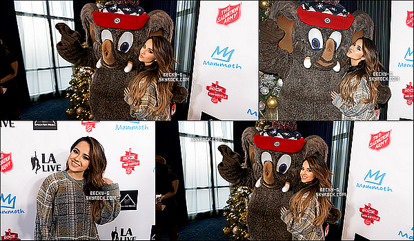 "06 / 12 / 15 : Becky a été à l'événement ""Rock The Red Kettle"" spécial Noel ou elle a fait un show. SHOW: ""Shower"",""Lovin' So Hard"",""You Love It"", & ""Break A S-"". Elle a rencontré des artistes comme Jacob Whitesides et Jake Miller."