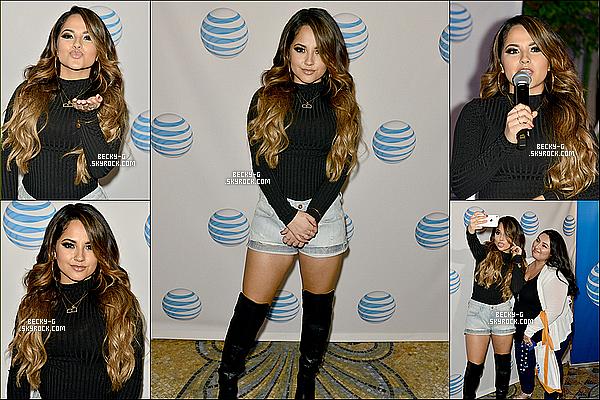 18 / 12 / 15 :Notre sublimeBeckyG aassisté auJingle Ballde laradio Y100 de Miami. Beckya donner un show. De plus, ellea été àl'AfterPartygroupeDNCE& a rencontrée plusieurs stars comme Demi Lovato....