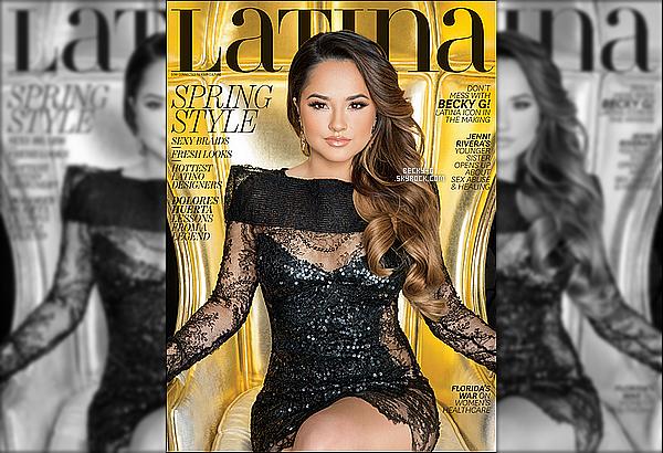 """Beckyfait la couverture du magasin """"Latina"""" ,dont il y a un nouveau photoshoot de la belle. Enfin notre Beckyfait la couverture du numéro du mois de Mars de """"Latina"""",qui est un magazine dédié sur les stars espagnols."""