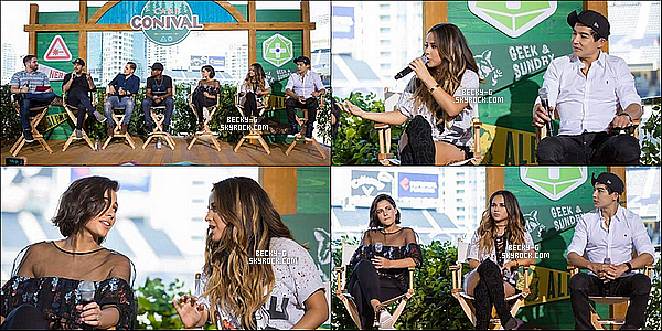 21 / 07 / 16 :Beckyavec ses co-stars ont été ensuite donnée une interview devant tout les fans.  Après les autographes de la Comic Con, le cast était en interview ou les journalistes voulaient savoir un peu plus sur le film.