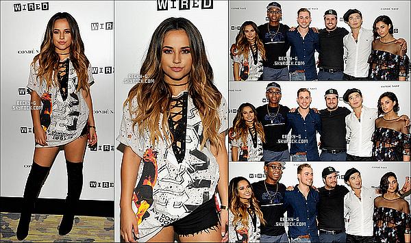 21 / 07 / 16 :Beckyavec ses co-stars de Power Rangers ont été à la Comic Con à San Diego (CA). Le cast a pu rencontrer leurs fans avant l'avant première du film qui se déroulera en 2017. Becky était ravie de cette journée !! Happy.