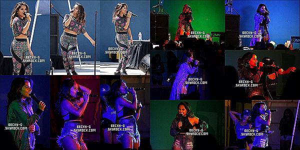 """21 / 08 / 16 :Becky a donner un concert pour ses chaleureux fans àSplash Kingdom en CA. Beckysublime sur la scène à performer pour la première fois """"Sola"""" eh oui dont je suis fan de ce titre !! Elle a pu rencontrée des fans."""