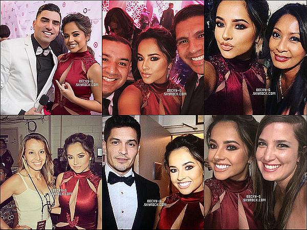 22 / 09 / 16 :Becky a été à l'évenement des Hispanic Heritage Awardsdont elle va tout les ans. Beckysublime en robe rouge était vraiment souriante & fessant des selfies avec quelques célébrités latinas. Elle a remi un prix aussi.