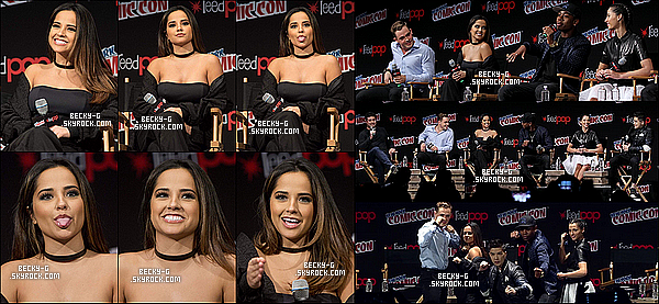 09 / 10 / 16 :Becky sublime, a été au ComicCon de New York avec ses co-stars de P.Rangers. Becky& le cast de Power Rangers ont pu donner une interview devant les fans, afin de parler du film & du tournage. TOOP !!