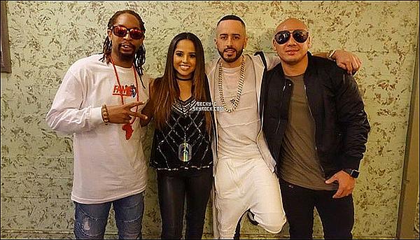 """13 / 10 / 16 :Beckya performer à la tournée Dangerous Tour de Yandel avec Lil John. Beckya performer le tube du moment """"Take it off"""" lors de la tournée de Yandel où elle est en featuring avec et Lil John aussi. TOP !!"""