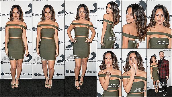 17 / 11 / 16 :Beckysublime a été à la soirée after party deLatinGrammyspar Sony Music Latin. Beckya été sublime & élégante lors de cette soirée. Sa robe est Au TOP !!! Cette fête était par l'événement des Latin Grammys.