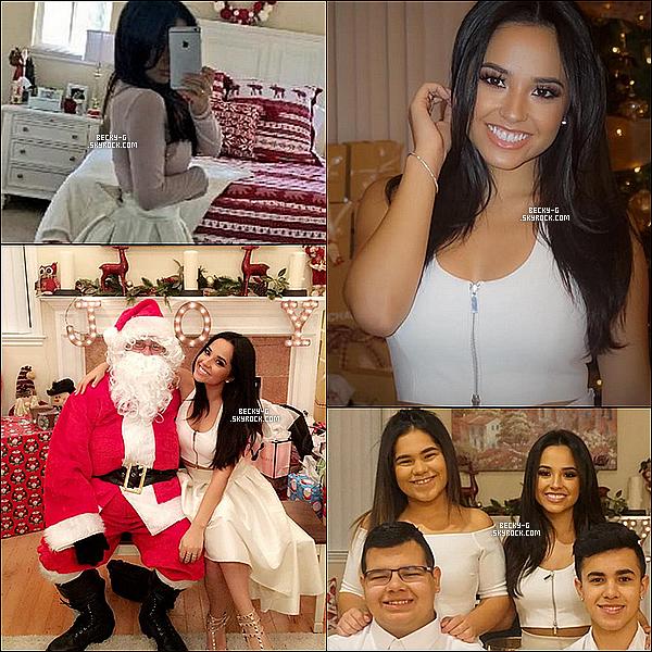 Christmas picture chez la famille Gomez, qui c'est réunit afin d'être en famille pour y profiter. Photos provenant d'instagram où l'on peut voir Becky heureuse avec sa famille en célébrant la fête de noël. Ce sont de belle photos **