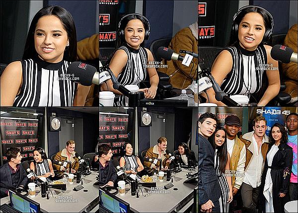 01 / 03 / 17 :Becky& ses co stars de P.Rangers ont été dans les studios de radio de New York. Beckyet ses co-stars donnant une interview chez les radios de NY;Sirius XM &Sway's pour promovoir le film des Power Rangers.