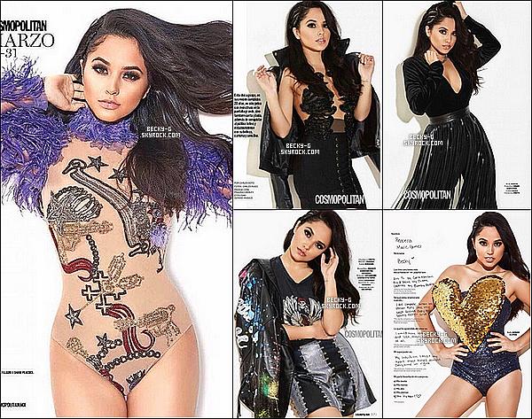 """Becky a fait la couverture du magazine mexicain """"Cosmopolitan"""" du mois de Mars 2017. Sublime comme toujours, Becky a pu faire une série photos pour ce magazine. Elle a porté différentes tenues qui lui vont très bien."""