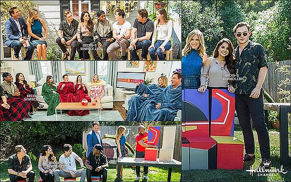"""Becky& les garçons de Power Rangers ont été dans l'émission """"Home & Family"""". Le cast n'était pas au complet car il n'y avait pas Naomi mais ils se sont quand même amusés & donnés des interviews à l'émission."""