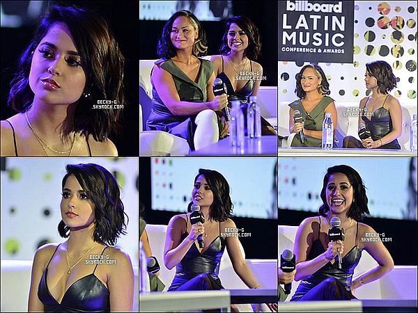 26 / 04 / 17 : Beckytoute belle, a été à la conférence de pressedesBillboard Latina  à Miami. Beckya été vraiment souriante et très sublime ! C'est son 1er événement avec sa nouvelle coupe courte, qui lui va plutôt bien. TOP.