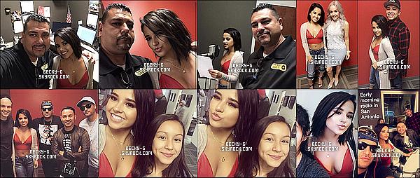 02 / 05 / 17 : Beckytoute belle, a été à la radio de San Antonio avec des célébrités latino. Beckya été souriante et très belle. Elle a été invité à San Antonio pour y performer avec Frankie J & Play-N-Skillz, le lendemain soir.