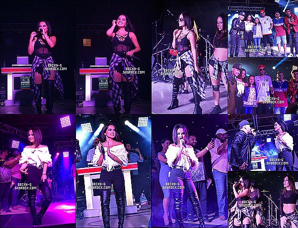 03 / 05 / 17 : Notre belle Becky a été sur scène pour performer auRosedale Park à San Antonio. Becky a de belle tenue de scène. Je dis TOP et puis elle a performé avec des célébrités latino commeFrankie J & Play-N-Skillz.