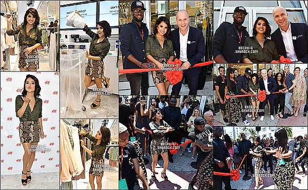 10 / 05 / 17 : Notre Beckysouriantea été à l'ouverture du magasin de mode H&M à Miami. Becky était la pop star qui a donné l'ouverture de ce magasin. Il y a eu un spectacle de danse devant la vitrine et des M&G pour fans.