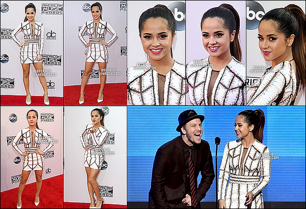 23 / 11 / 14 :  Becky, si belle a été sur le carpet des American Music Awards 2014 à Los Angeles.  Becky a été sublime et souriante lors de cet événement. Elle a pue remettre un prix aux gagnant d'un award. Sur ceux je dit un TOP !