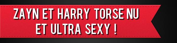Zayn et Harry torse nu et ultra SEXY !