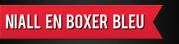 Niall en boxer bleu