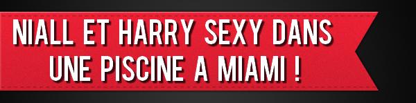 Niall et Harry SEXY dans une piscine à Miami !