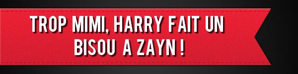 Trop mimi, Harry fait un bisou à Zayn !