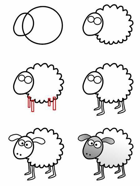 En commun Modele dessin animaux facile - vvivante &QA_22