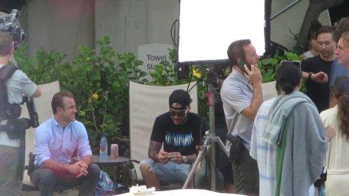 Alex & Scott sur le set de la saison 8 le 11.07.2017