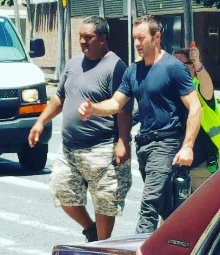 Alex & Ian sur le set de la saison 8 le 07.09.2017
