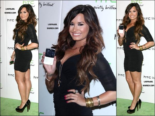"""* 19/07/11 - Demi était à l'évènement """"HTC Status Social"""" organisé pour la sortie de la nouvelle collection de portables HTC. (Hollywood) *"""