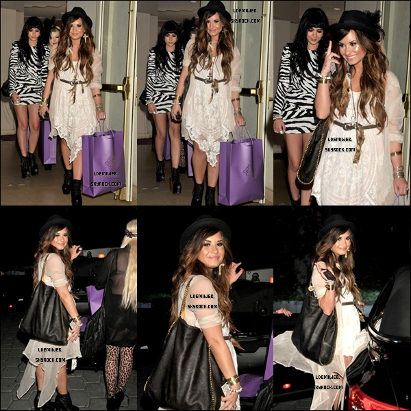 * 20/07/11 - Demi a assisté au launch organisé par Noon BY Noor au Sunset Tower Hotel, accompagnée de Hanna Beth et Joyce Bonelli. (West Hollywood, CA)  *