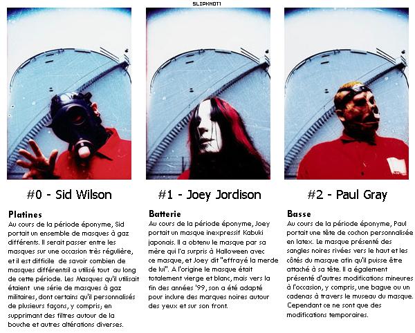 Les masques de l'album Slipknot