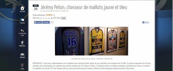 """Interview pour """"AllezSochaux.com"""" du 28/03/2014"""