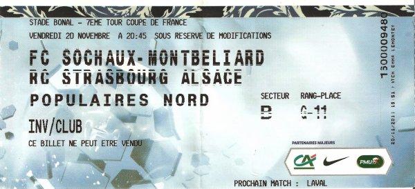 Maillot porté par Thomas Guerbert contre Strasbourg 7ème tour de la coupe de France