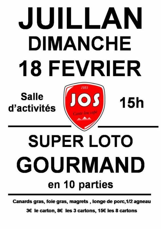 Dimanche 18 Février à 15h à la salle d'activités, nous organisons notre deuxième loto.