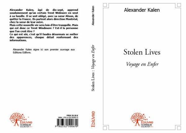 """L'interview du livre: """"Stolen Lives : Voyage en Enfer"""" en vente dès maintenant !"""