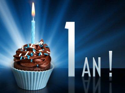 mon blog fête ses 1 ans aujourd'hui