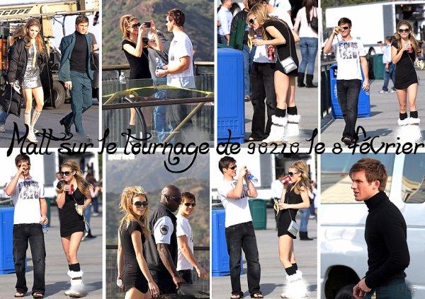 08.02.11 : Voici des photos de Matt sur le tournage de 90210 en compagnie d'AnnaLynne McCord et de Shenae Grimes datant du 08 février! Ils étaient habillés style années '60. De plus, AnnaLynne & Matt se sont pris en photos (habillés normalement) mutuellement et ont été pris en photos par des personnes.