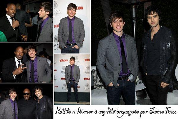 11.02.11 : Voici des photos de Matt à la fête organisée ar le fameux acteur Jamie Foxx à l'occasion des Grammy Awards. Personnellement, j'ai trouvé Matt vraiment classe à cette soirée.