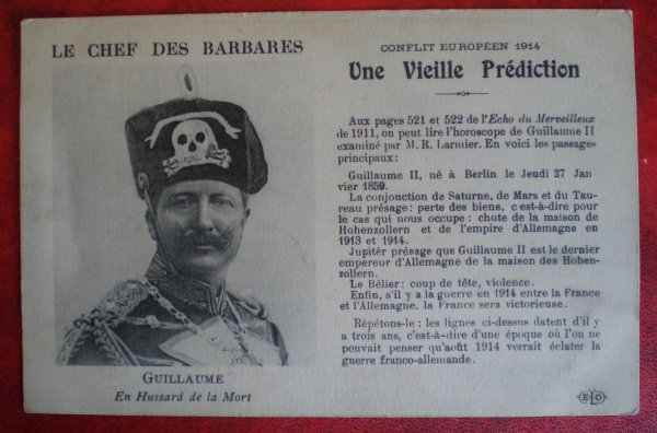 "CPA GUILLAUME II. ""LE CHEF DES BARBARES"""