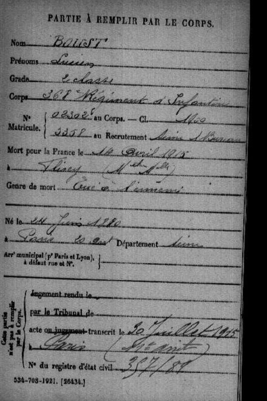 RENTREE MEDAILLE DE TABLE 1915