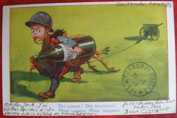 CPA ORIGINALES WW1. HUMOUR.