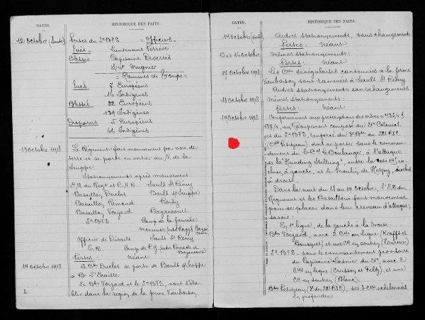 RENTREE EN 2012 CADRE MORT POUR LA FRANCE 1918 ..21e RIC